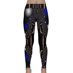 An Interesting Mix Of Blue And Other Colours Balls Classic Yoga Leggings