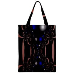 An Interesting Mix Of Blue And Other Colours Balls Zipper Classic Tote Bag by Nexatart