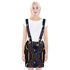 An Interesting Mix Of Blue And Other Colours Balls Suspender Skirt