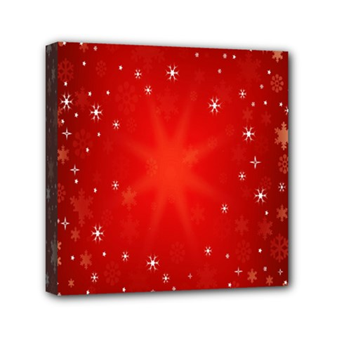 Red Holiday Background Red Abstract With Star Mini Canvas 6  X 6