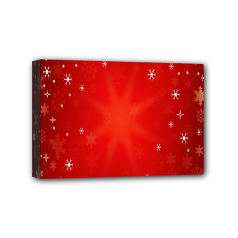 Red Holiday Background Red Abstract With Star Mini Canvas 6  X 4  by Nexatart