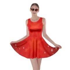 Red Holiday Background Red Abstract With Star Skater Dress