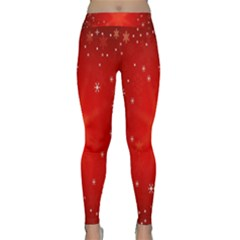 Red Holiday Background Red Abstract With Star Classic Yoga Leggings