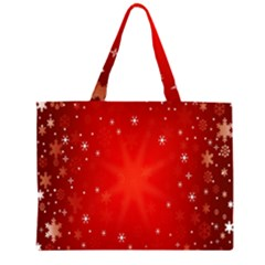 Red Holiday Background Red Abstract With Star Large Tote Bag