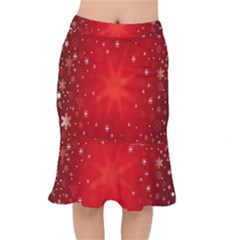 Red Holiday Background Red Abstract With Star Mermaid Skirt by Nexatart