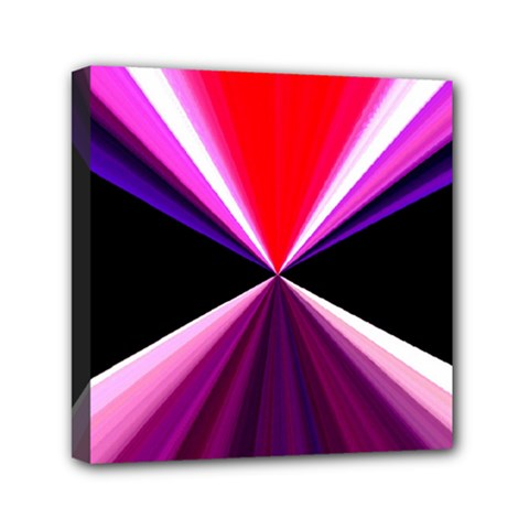 Red And Purple Triangles Abstract Pattern Background Mini Canvas 6  X 6