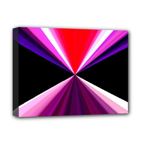 Red And Purple Triangles Abstract Pattern Background Deluxe Canvas 16  X 12   by Nexatart