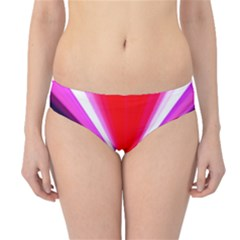 Red And Purple Triangles Abstract Pattern Background Hipster Bikini Bottoms