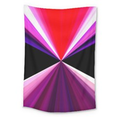 Red And Purple Triangles Abstract Pattern Background Large Tapestry by Nexatart
