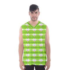 Abstract Pattern Background Wallpaper In Multicoloured Shapes And Stars Men s Basketball Tank Top