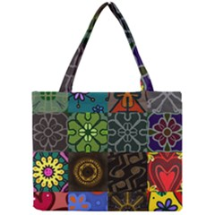 Digitally Created Abstract Patchwork Collage Pattern Mini Tote Bag by Nexatart