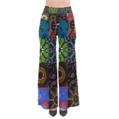 Digitally Created Abstract Patchwork Collage Pattern Pants by Nexatart