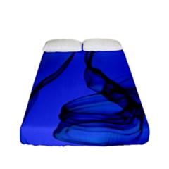 Blue Velvet Ribbon Background Fitted Sheet (full/ Double Size) by Nexatart