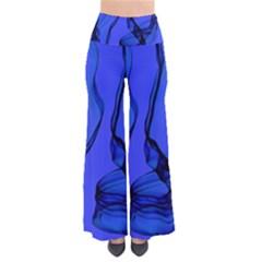 Blue Velvet Ribbon Background Pants by Nexatart