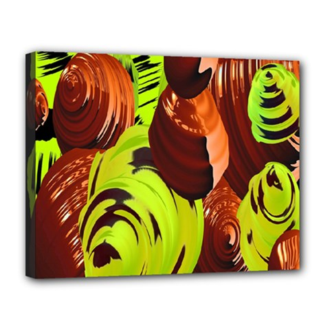 Neutral Abstract Picture Sweet Shit Confectioner Canvas 14  X 11