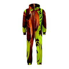Neutral Abstract Picture Sweet Shit Confectioner Hooded Jumpsuit (kids)