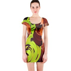 Neutral Abstract Picture Sweet Shit Confectioner Short Sleeve Bodycon Dress by Nexatart