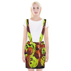 Neutral Abstract Picture Sweet Shit Confectioner Suspender Skirt