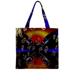 Diamond Manufacture Zipper Grocery Tote Bag