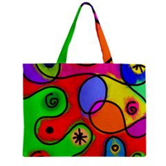 Digitally Painted Patchwork Shapes With Bold Colours Mini Tote Bag