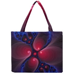Color Fractal Pattern Mini Tote Bag