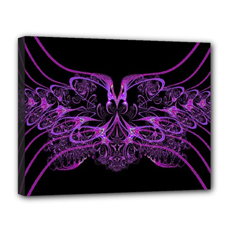 Beautiful Pink Lovely Image In Pink On Black Canvas 14  X 11  by Nexatart
