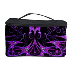 Beautiful Pink Lovely Image In Pink On Black Cosmetic Storage Case by Nexatart