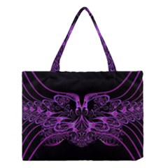 Beautiful Pink Lovely Image In Pink On Black Medium Tote Bag by Nexatart