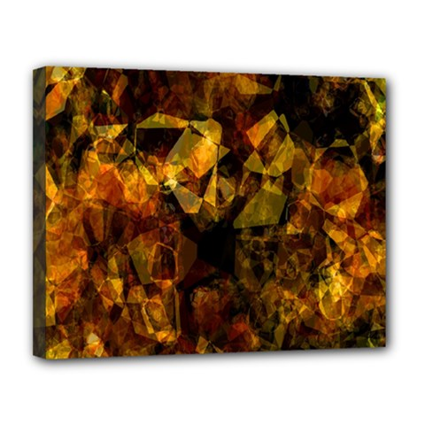 Autumn Colors In An Abstract Seamless Background Canvas 14  X 11  by Nexatart