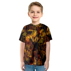 Autumn Colors In An Abstract Seamless Background Kids  Sport Mesh Tee