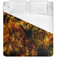 Autumn Colors In An Abstract Seamless Background Duvet Cover (king Size)
