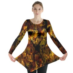 Autumn Colors In An Abstract Seamless Background Long Sleeve Tunic