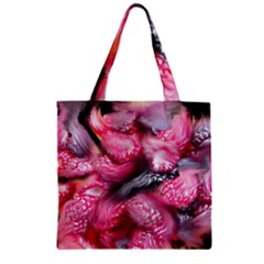 Raspberry Delight Zipper Grocery Tote Bag