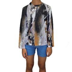 Abstract Graffiti Background Kids  Long Sleeve Swimwear