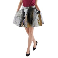 Abstract Graffiti Background A Line Pocket Skirt