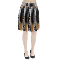 Abstract Graffiti Background Pleated Skirt