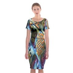 Background, Wallpaper, Texture Classic Short Sleeve Midi Dress by Nexatart