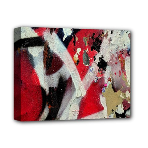 Abstract Graffiti Background Wallpaper Of Close Up Of Peeling Deluxe Canvas 14  X 11