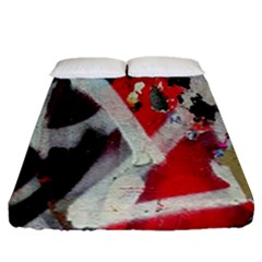 Abstract Graffiti Background Wallpaper Of Close Up Of Peeling Fitted Sheet (queen Size)