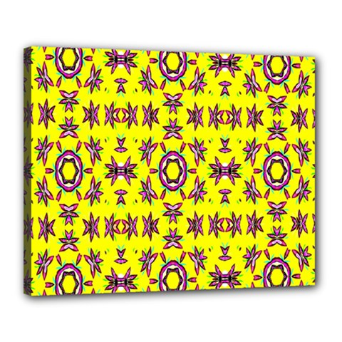 Yellow Seamless Wallpaper Digital Computer Graphic Canvas 20  X 16