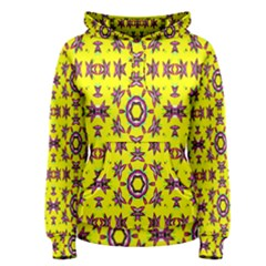 Yellow Seamless Wallpaper Digital Computer Graphic Women s Pullover Hoodie