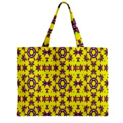 Yellow Seamless Wallpaper Digital Computer Graphic Zipper Mini Tote Bag by Nexatart