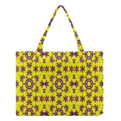 Yellow Seamless Wallpaper Digital Computer Graphic Medium Tote Bag by Nexatart