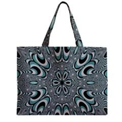 Kaleidoskope Digital Computer Graphic Zipper Mini Tote Bag