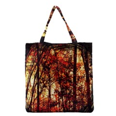 Forest Trees Abstract Grocery Tote Bag by Nexatart