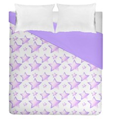 Lilac Stars Double Sided Duvet Cover (queen Size) by cheekywitch