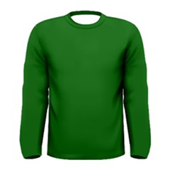 Dark Plain Green Men s Long Sleeve Tee by Jojostore