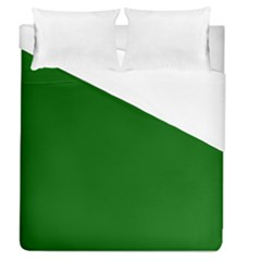 Dark Plain Green Duvet Cover (queen Size) by Jojostore