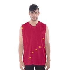Alaska Star Red Yellow Men s Basketball Tank Top by Jojostore