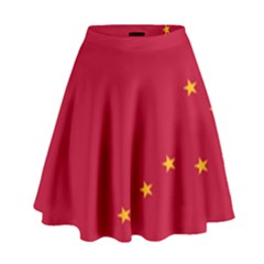 Alaska Star Red Yellow High Waist Skirt by Jojostore